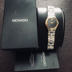 "Authentic Movado ""Juro"" two toned watch"